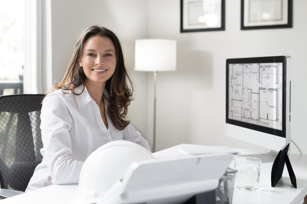 Female Architect in Office