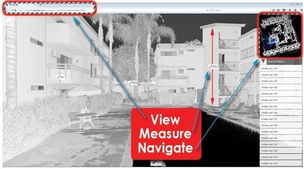 Autodesk 360 Cloud View BIM Model - Measure Recap - Reality Capture
