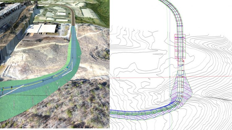 Civil 3D Component & Corridor-Landscape in model