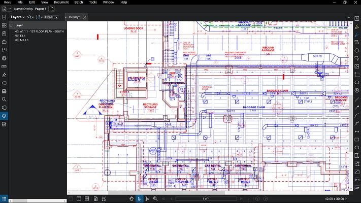 Bluebeam Revu 2018 Document Management 2018 - Blueprint Document Overlay in Revu 2018