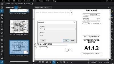 Bluebeam Revu 2018 - PDF Blueprint showing AutoMark feature