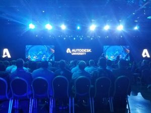 autodesk university keynote with people ready to ask questions