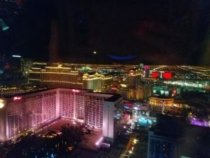 autodesk university advance party - view from high roller overlooking the las vegas strip