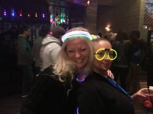 autdesk university advance party - fun times with glow stick headbands and sunglasses