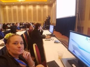 autodesk university hands-on lab session with april looking pensive