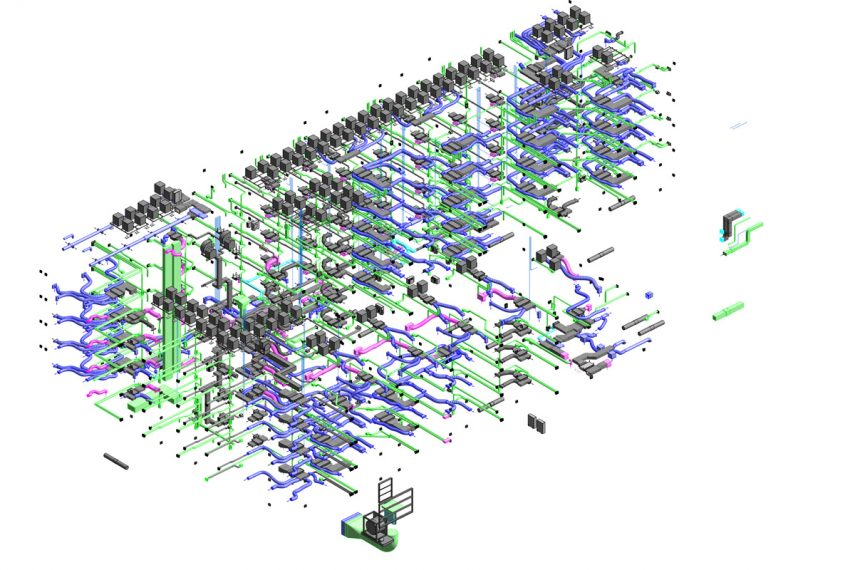 Oceanside Block 19 Revit model showing mechanical detail