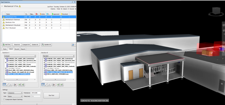 3D model of a one story building in grey