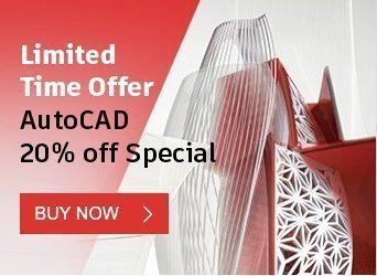 graphical image with text - limited time offer autocad 20% off Special