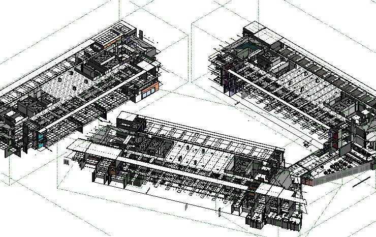sample of BIM modeling for acoustic ceilings.