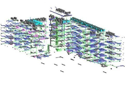 Sample of mechanical BIM modeling project.