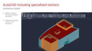 Screen shot of Autocad webinar