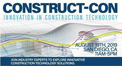Construct-Con image with date and time of event for construction technology