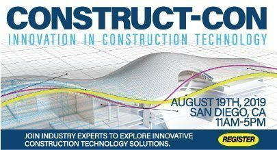 construct-con image with 3d building model in background