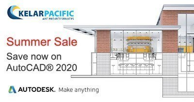 autocad summer sale image with drafting view of a modern building