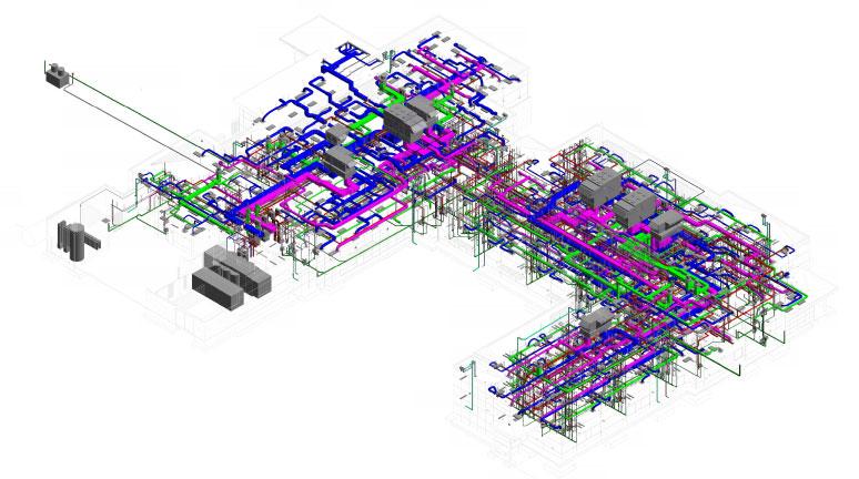 murrieta healthsouth mechanical BIM model for construction