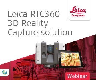 Webinar image of Leica RTC360 3D Laser Scanner machine and tablet software