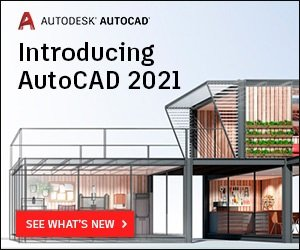 Introducing AutoCAD 2021 with a digital view of a modern house