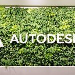 Autodesk office building with logo on a wall of ivy