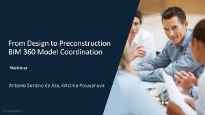 webinar image - BIM 360 Model Coordination