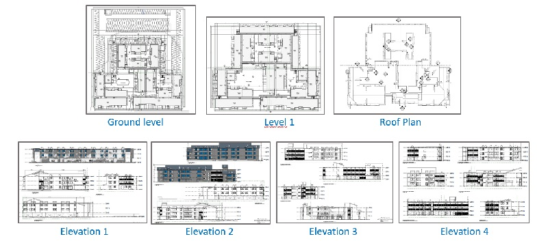 2D CAD drawings for seismic retrofit project
