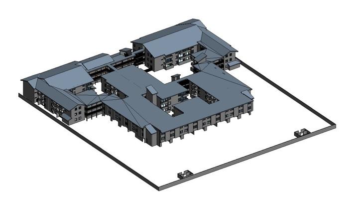 3D model created for seismic retrofit
