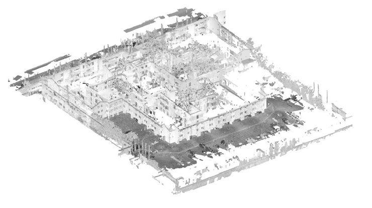 3D laser scan for seismic retrofit