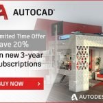 AutoCAD flash sale for 3 year subs
