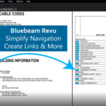 Bluebeam Revu showing screen shot of document linking