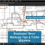 bluebeam revu screen shot showing custom line styles