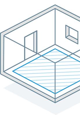 line art of room with floor measurement