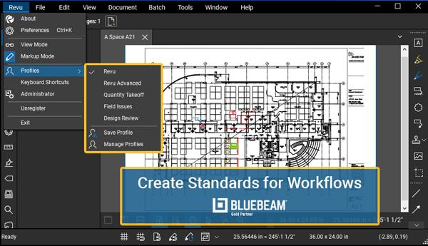 Bluebeam Revu - create standards for workflows